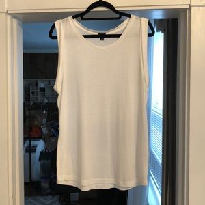 J. Crew white t-shirt rolled sleeve size M